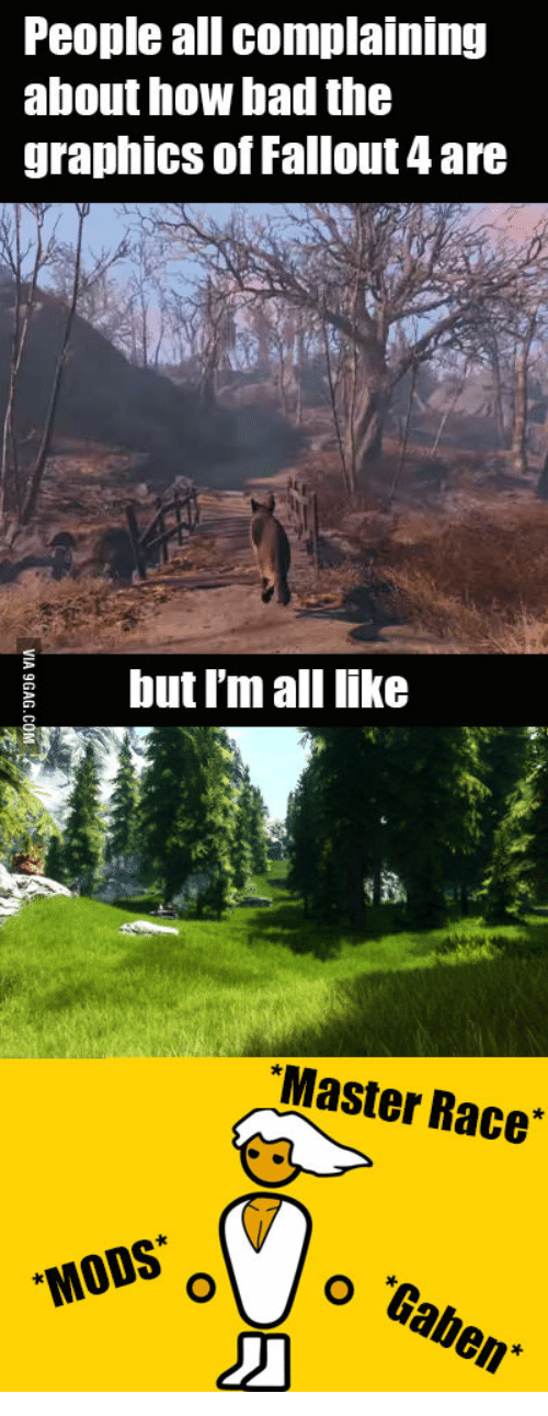 People All Complaining About 10W Nadthe Graphics of Fallout 4 Are