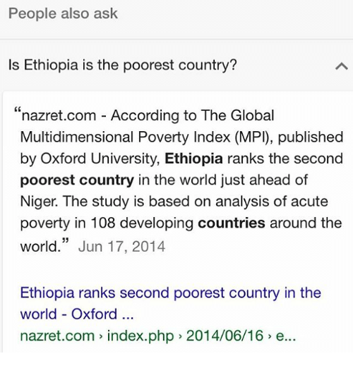 People Also Ask Is Ethiopia Is The Poorest Country Nazretcom - 2nd poorest country in the world