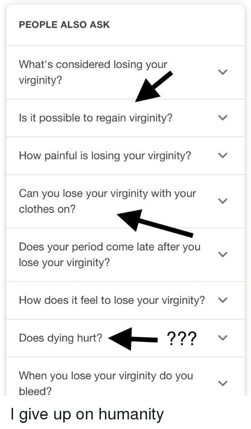 How painful is losing your virginity sorry, that