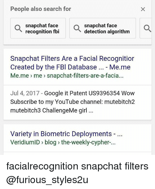 People Also Search for Snapchat Face Recognition Fbi Snapchat Face