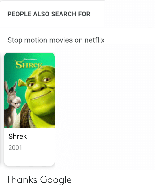 PEOPLE ALSO SEARCH FOR Stop Motion Movies on Netflix HRe Shrek 2001