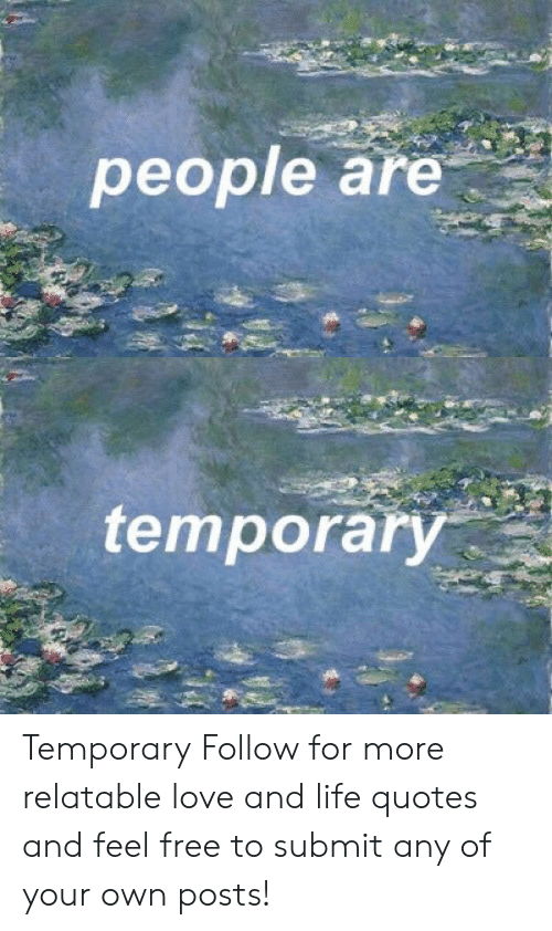 People Are Temporary Temporary Follow for More Relatable ...