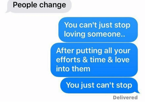 How to stop loving some one