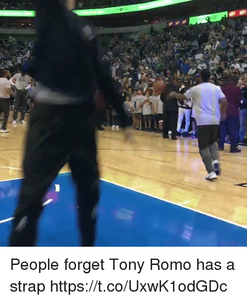 Basketball, Tony Romo, and White People: People forget Tony Romo has a strap https://t.co/UxwK1odGDc