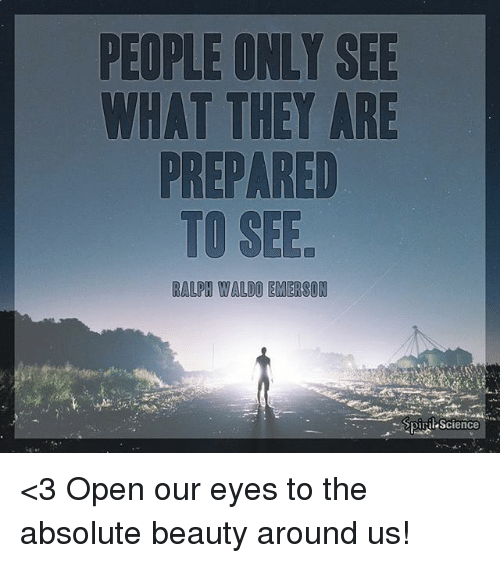 people only see what they are prepared to see essay People only see what they are prepared to see ~ ralph waldo emerson 4:13 am - 5 apr 2018 78 retweets 192 likes 2 replies 78 retweets 192 likes reply 2.