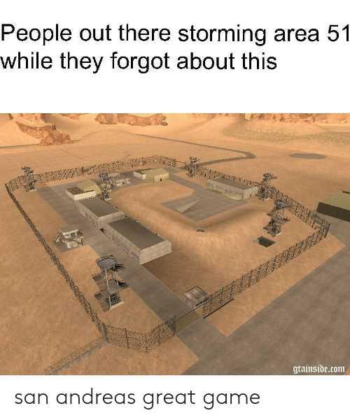 People Out There Storming Area 51 While They Forgot About