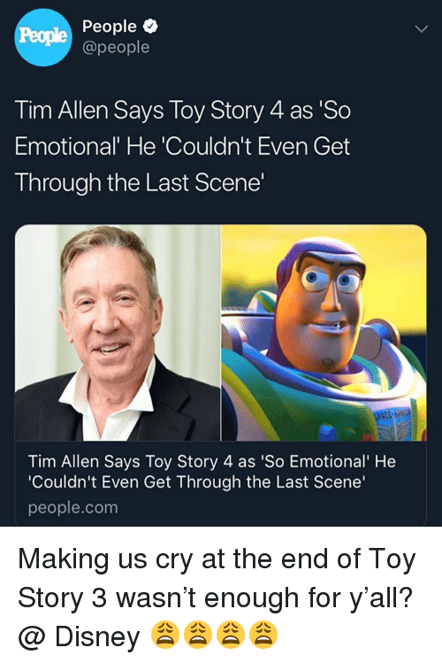 People People Tim Allen Says Toy Story 4 As U0026#39;So Emotionalu0026#39; He U0026#39;Couldnu0026#39;t Even Get Through The ...