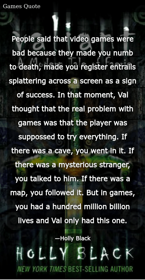 people said that video games were bad because they made you numb