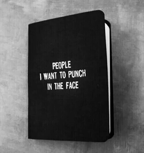 Face, The Face, and People: PEOPLE  WANT TO PUNCH  IN THE FACE