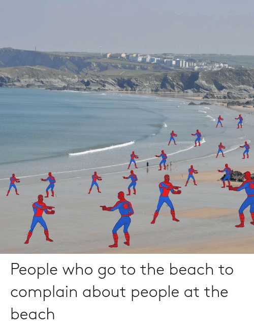 Beach, Who, and The Beach: People who go to the beach to complain about people at the beach