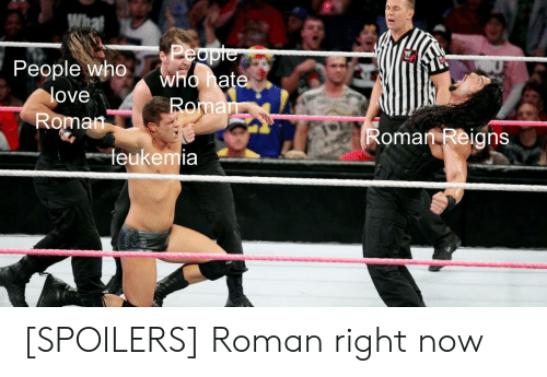 3204c43a49fc4 People Who Love Roman Who Hat Arn Roman Reigns Leukemia SPOILERS ...