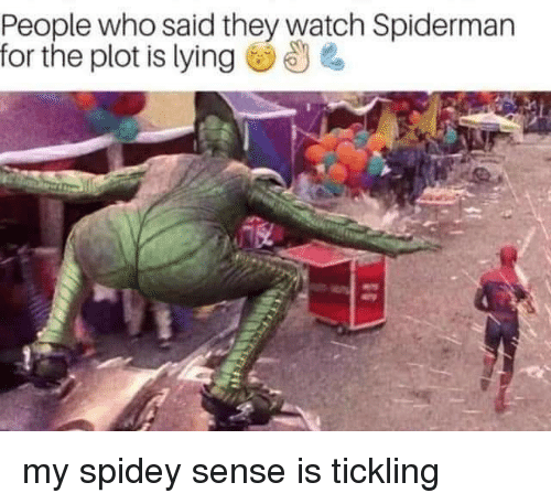 Reddit, Spiderman, and Watch: People who said they watch Spiderman  for the plot is lying U my spidey sense is tickling