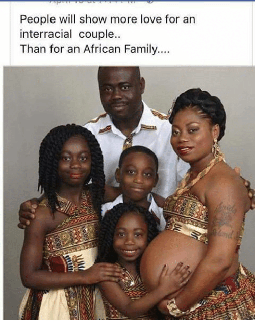 an interracial family
