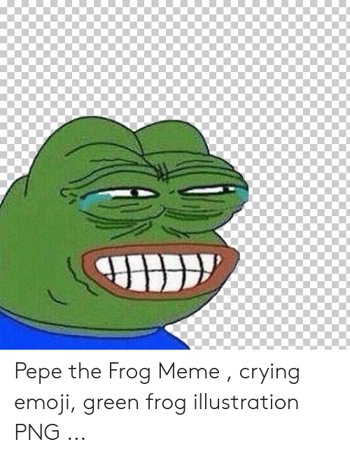 Pepe the Frog Meme Crying Emoji Green Frog Illustration PNG | Crying