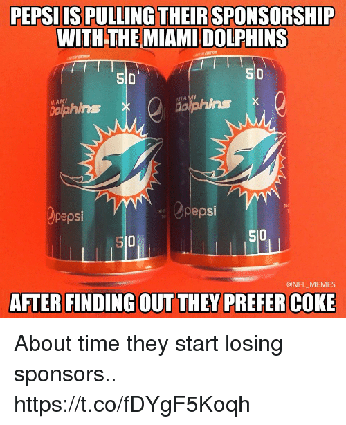 pepsiis pulling their sponsorship with the miami dolphins si0 510 28227115 pepsiis pulling their sponsorship with the miami dolphins si0 510