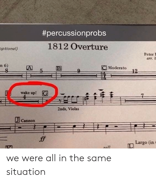 Percussionprobs 1812 Overture Ptional Peter I Arr B N 6 a