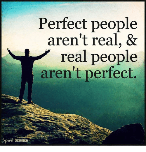 Image result for perfect people aren't real