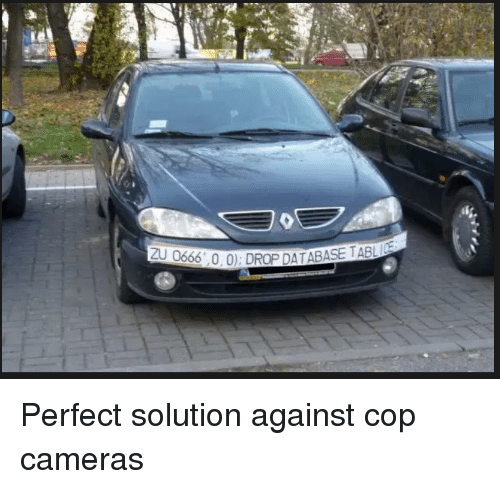 Cop, Perfect, and  Solution: Perfect solution against cop cameras