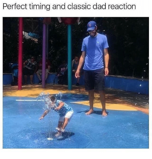 Dad, Memes, and Perfect Timing: Perfect timing and classic dad reaction