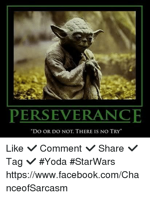 perseverance do or do not there is no try like 4842805 perseverance do or do not there is no try like ✓ comment ✓ share