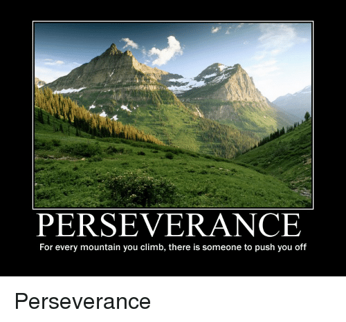 Persistence Motivational Quotes: PERSEVERANCE For Every Mountain You Climb There Is Someone