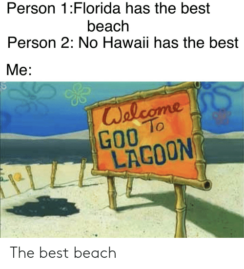Person 1Florida Has the Best Beach Person 2 No Hawaii Has