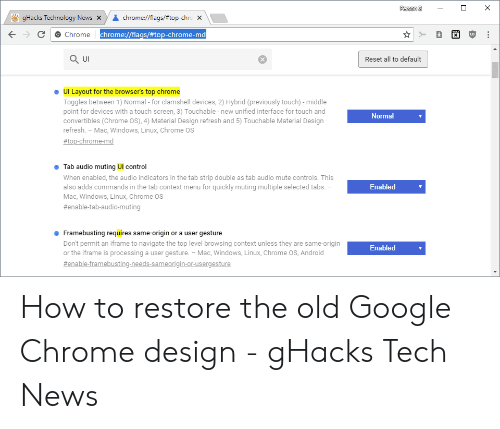 Person 2 gHacks Technology News X Chromeflags#top-Chro X Chrome