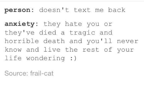 what is texting anxiety