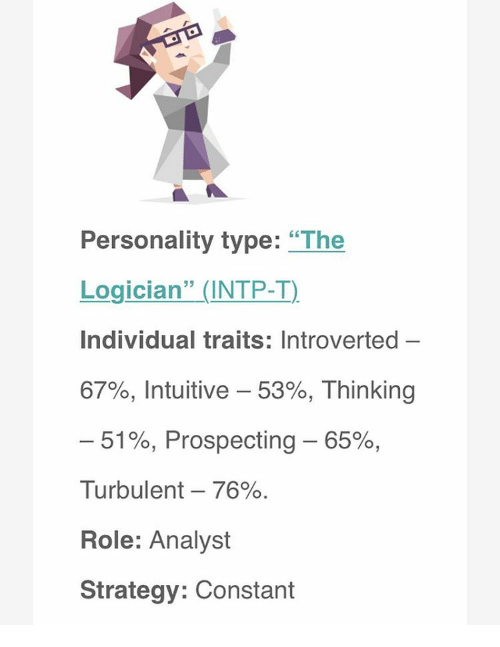 personality type the logician intp t individual traits introverted