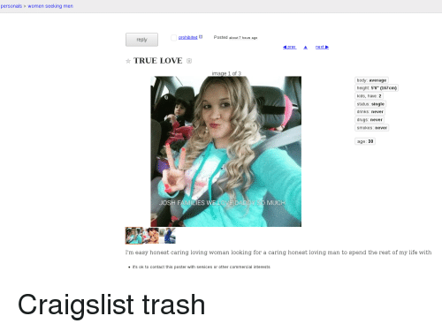 Craigslist man looking for woman