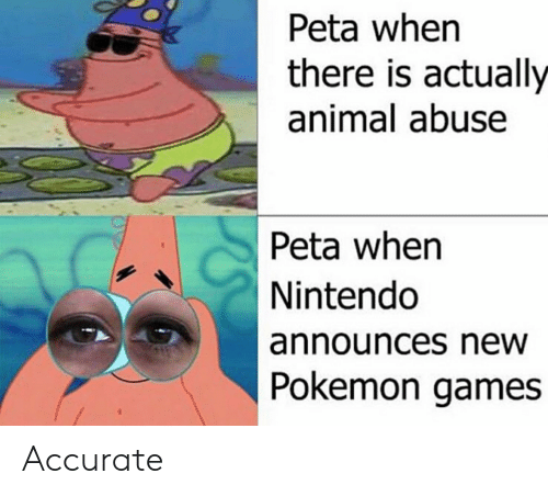 Peta When There Is Actually Animal Abuse Peta Whern Nintendo