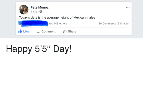 Average height for a mexican