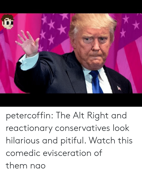 Tumblr, youtube.com, and Blog: petercoffin:  The Alt Right and reactionary conservatives look hilarious and pitiful. Watch this comedic evisceration of them nao