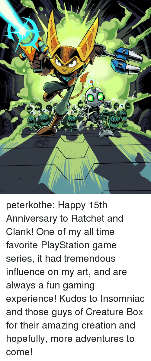 Peterkothe Happy 15th Anniversary to Ratchet and Clank! One