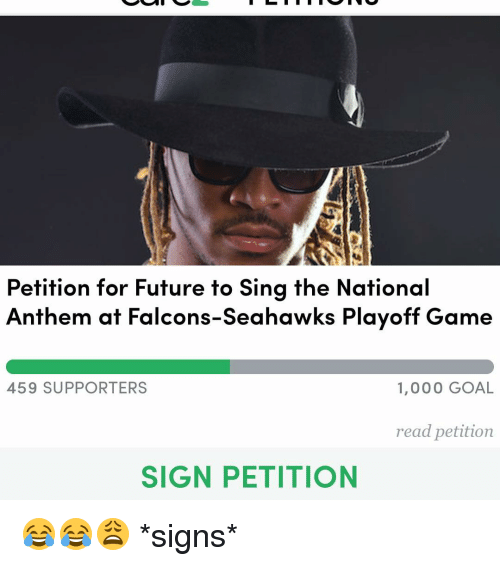 9575a713c07b Petition for Future to Sing the National Anthem at Falcons-Seahawks ...