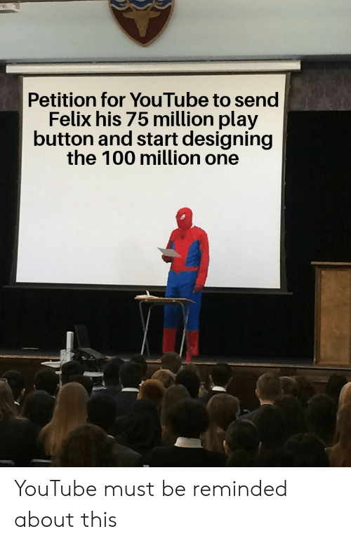 Petition For YouTube To Send Felix His 75 Million Play
