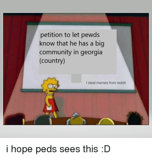 Petition to Let Pewds Know That He Has a Big Community in
