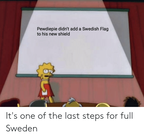 Pewdiepie Didn't Add a Swedish Flag to His New Shield It's One of