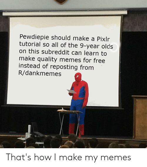 Pewdiepie Should Make a Pixlr Tutorial So All of the 9-Year