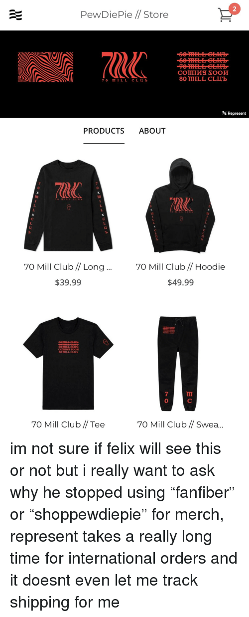 PewDiePie 70 Mill Club T-Shirt Long Sleeve Tee USA SIZE