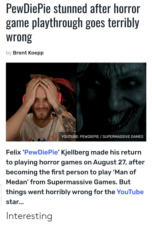 PewDiePie Stunned After Horror Game Playthrough Goes