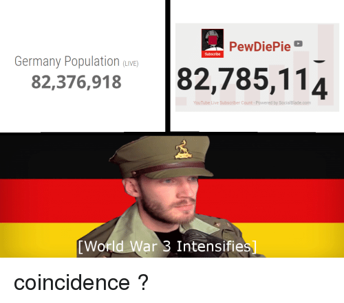 PewDiePie Subscribe Germany Population uIVE 82376918
