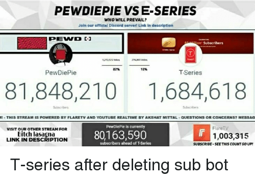PEWDIEPIE VS E-Series WHO WILL PREVAIL? Join Our Official