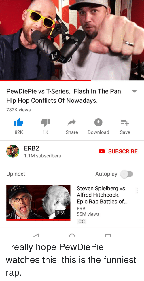 PewDiePie vs T-Series Flash in the Pan Hip Hop Conflicts of