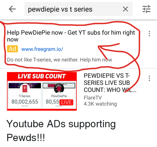 yt sub count