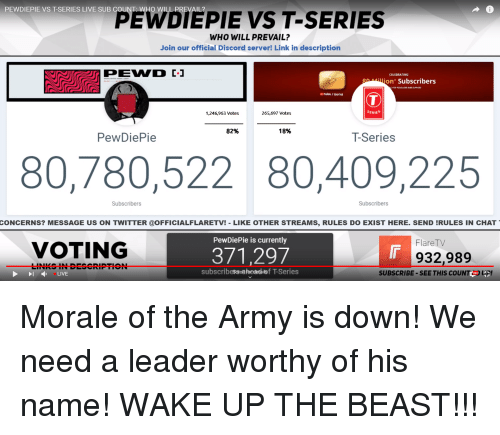 PEWDIEPIE VS T-Series LIVE SUB COUNT WHO WILL PREVAIL? PEIEPIE VS T