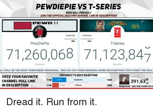 PEWDIEPIE VS T-Series WHO WILL PREVAIL? JOIN THE OFFICIAL