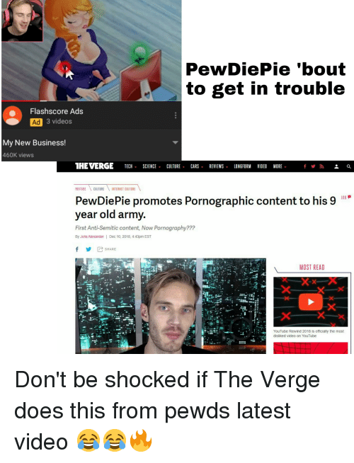 PewDiePie'bout to Get in Trouble Flashscore Ads Ad 3 Videos My New