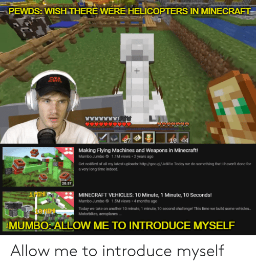 PEWDS WISHTHERE WERE HELICOPTERS IN MINECRAFT- + CVKA 10 44
