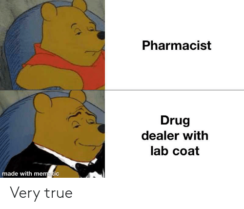 Pharmacist Drug Dealer With Lab Coat Made With Mematic Very